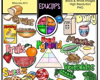 Food Pyramid Clip Art Bundle