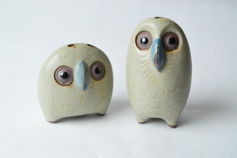 Cute Pair Of Owl Salt And Pepper Shakers Unused By