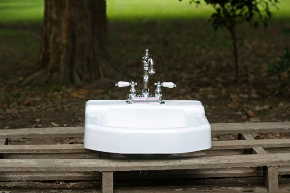 1958 kohler refinished white mid century modern cast by Mid century modern bathroom faucets