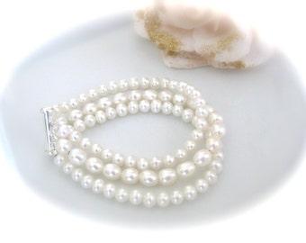 Freshwater Pearl Bracelet Wedding Jewelry Bridal Bracelet Bridal Jewelry