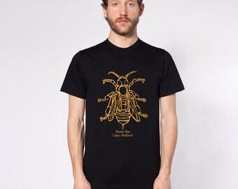 KillerBeeMoto: Honey Bee (Apis Mellifera) Short & Long Sleeve Shirts Cartoon Version