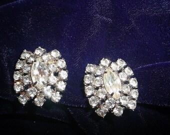 Glamorous Vintage Rhinestone Earrings