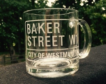 Baker Street Mug  -13 oz  Baker Street London Street Sign
