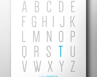 Alphabet Baby Name Poster