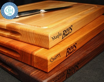 BOOS Cutting Board w/ Carved Perimeter Juice Groove 12x18x1.5 - NOT PERSONALIZED.