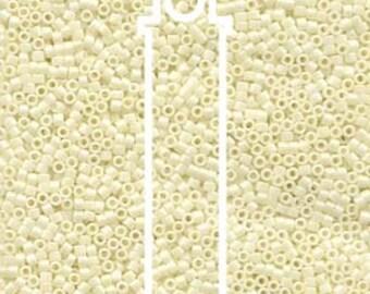 Delica Miyuki Beads, ceylon Lt Yellow, Tube Beads, Peyote, Loom, Brick Stich, Bead Embroidery, 7.2 Grams, Uniform Quality Beads, #DB203