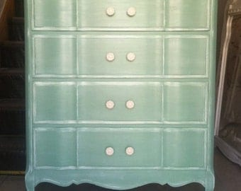 Shabby Chic French Provincial Teal Sage Green Provence