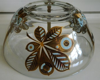 Georges Briard butterfly and leaf serving bowl