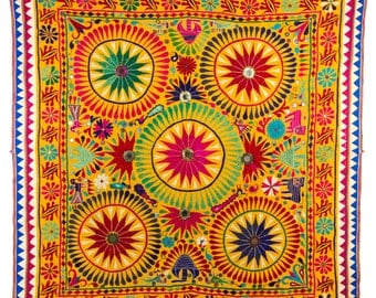 Hand-stitched canopy from Gujarat