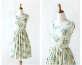 1960s vintage dress -  early 60s cotton floral sun dress: Anything Goes dress
