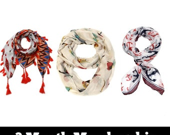 3 Month Scarf of the Month Gift Subscription