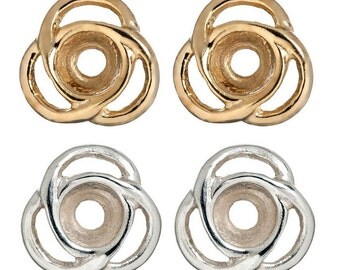 Earring Jackets in beautiful silver and gold Triple loops