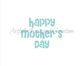 Mothers Day Stencil