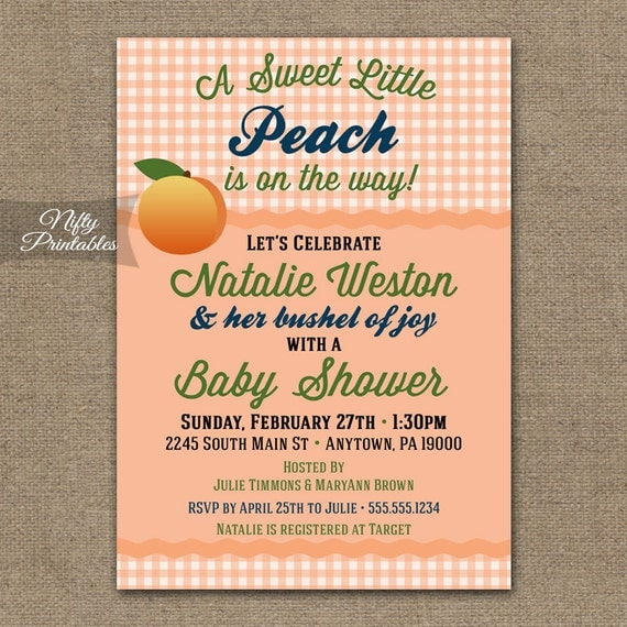 peach baby shower invitations printable gender neutral coral shower