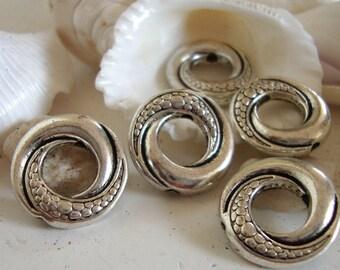 5 Mermaid Tail Beads,Ocean Wave Beads,
