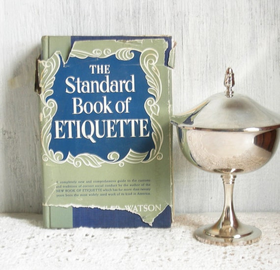 Wedding Gift Etiquette Groom To Bride : 1948 ETIQUETTE BOOK New Bride Gift Wedding Etiquette Hostess Guide Mid ...
