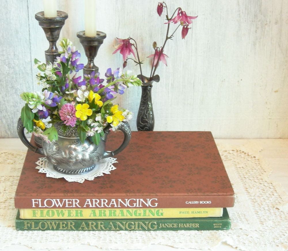 Flower arranging books wedding flowers by sweetdaphnevintage
