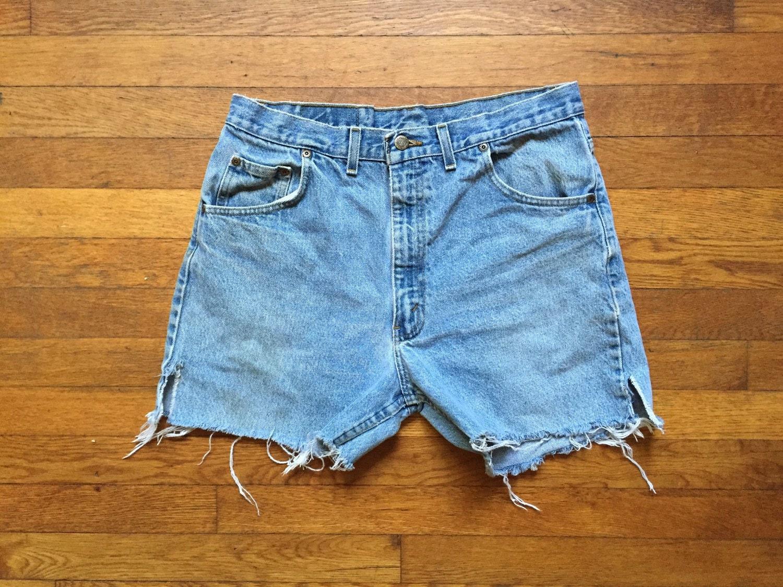 Cut Off Denim Shorts 66