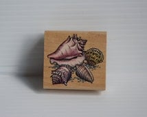 SEA SHELLS Rubber Stamp, scrapbooking supply, Rubber Stampede stamp, arts and crafts supply, arts supplies, gift for scrapbooker,Shell Stamp