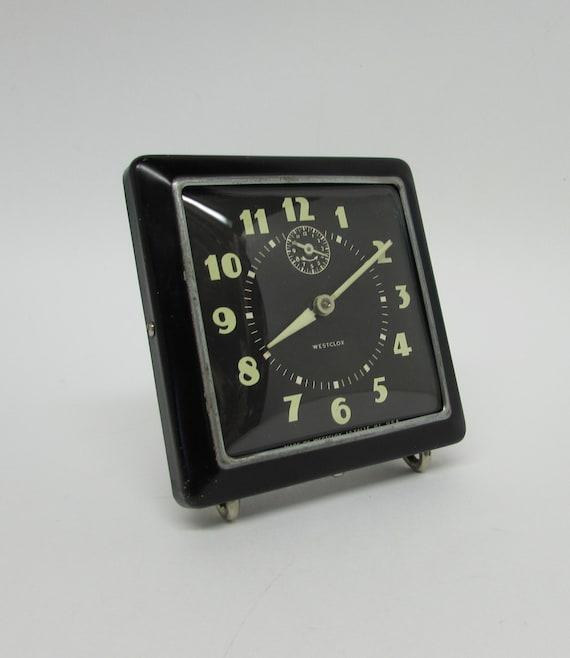 Westclox Alarm Clock 1940s Era Mad Men D 233 Cor Art Deco