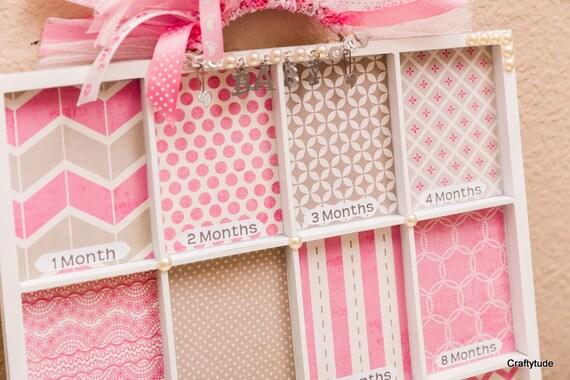Items similar to memory tray baby girl memory tray for Baby tray decoration
