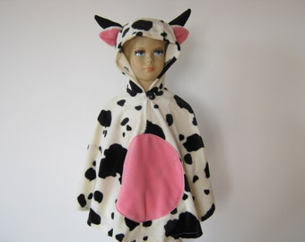 cow halloween / carnival costume cape for toddlers