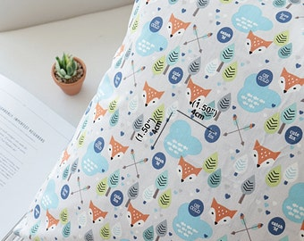 Oxford Cotton Fabric Fox By The Yard