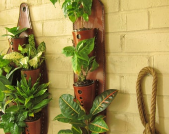 Leather Wall Planter 3