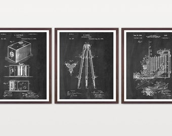 Camera Poster - Camera Art - Photography Poster - Tripod - FIlm Camera - Patent Print - Patent Poster - Photo - Photography - Old Camera
