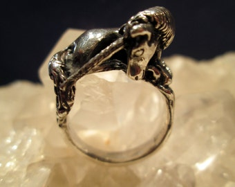 Unicorn Ring ~Hand Cast~ Sterling Silver  3/d Details