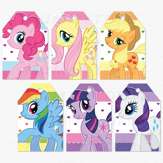 My Little Pony Birthday Party Thank You Favor Tags DIY