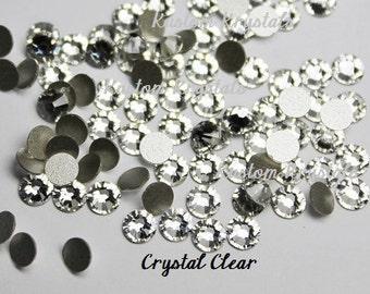 20ss CRYSTAL CLEAR Swarosvki Crystal Flatback Rhinestones. 2088 No-Hotfix.  4.7mm  ss20