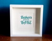 Glitter baking typography print