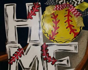 Softball/Baseball door hanger