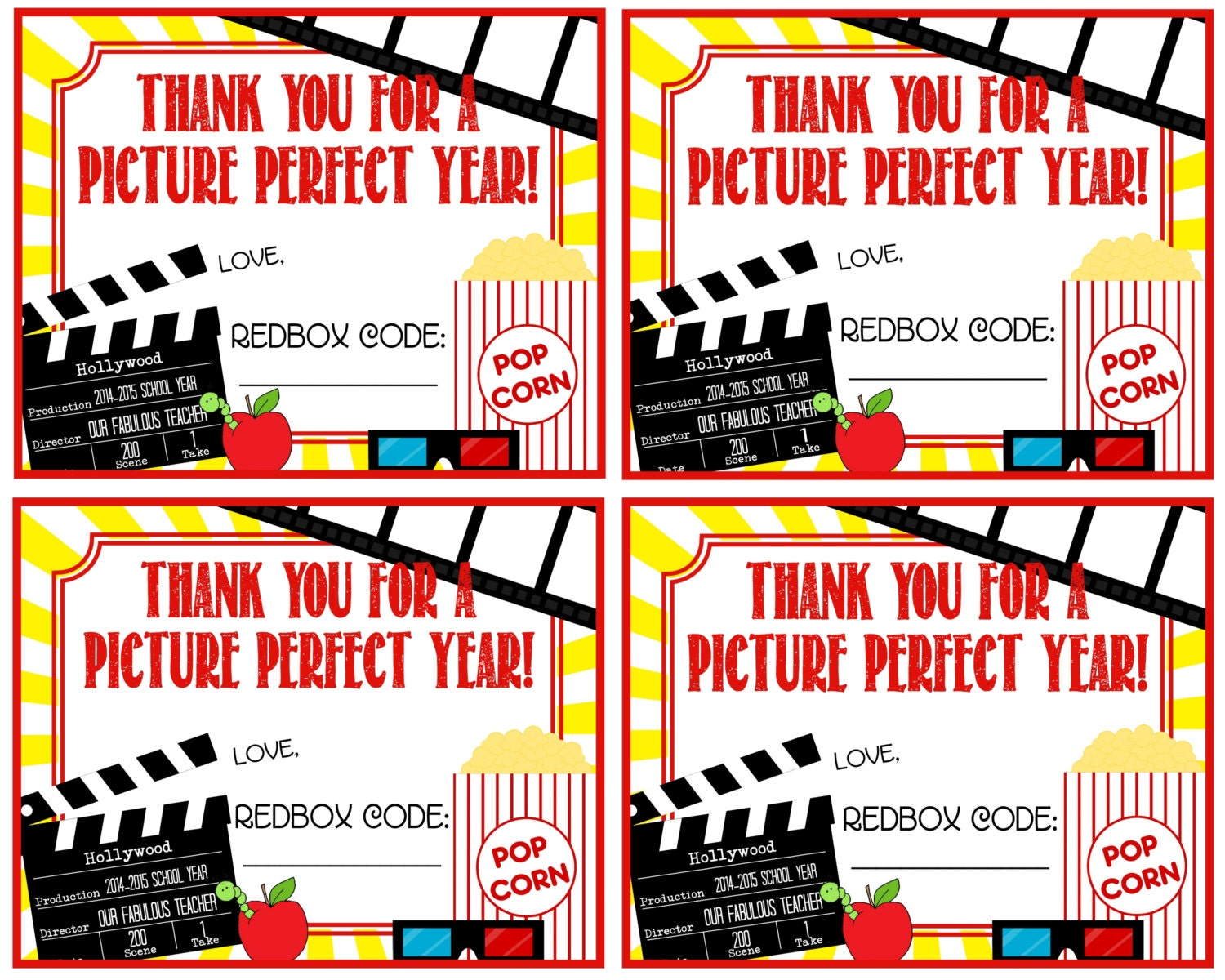 It is a photo of Fan Redbox Printable Gift Certificate