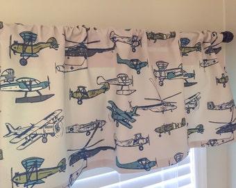 Little Oasis Custom Airplane Curtains.
