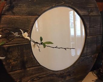 Large wood frame/Picture frame/Wood framed mirror