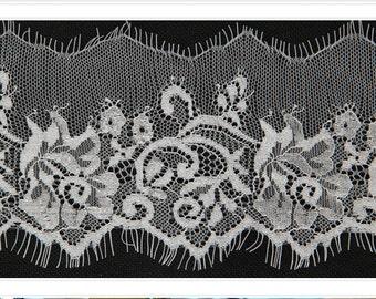 white eyelash lace trim sold by 3yards,wedding Lace trim, 10.5cm Eyelash lace for lace dress-3003