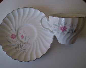 Johnson Brothers Snow White Regency Teacup and Saucer