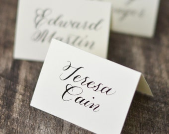 Wedding Place Cards + Calligraphy