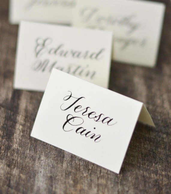 Wedding Place Cards Calligraphy