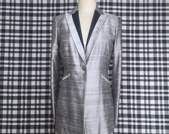 Womens Metallic/Silver Blazer