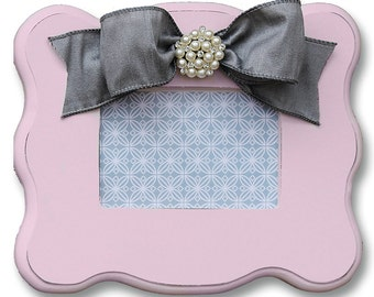 pink and gray picture frame- pink and gray decor- kids room- baby nursery-fancy girl room- pink and gray decor- shower gift- baby gift