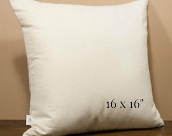 Pillow Insert, Organic Cotton, 16x16inch