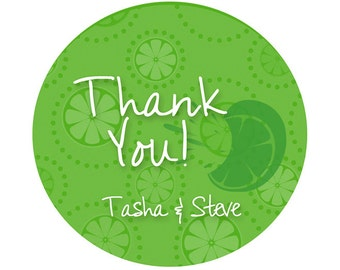 "Personalized Thank You Labels - Lemon Labels - Lime Labels -Custom Labels - Mason Jar Labels - Choose Color - 2"" or 2.5"""