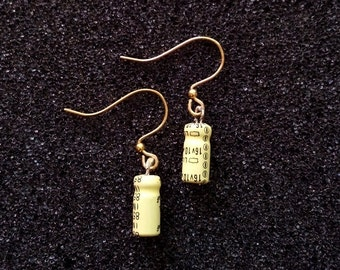 Pale Yellow Capacitor Earrings