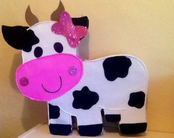 Cow pinata. Animal Farm pinata. Farm pinata. Barn pinata. Farm birthday Party.