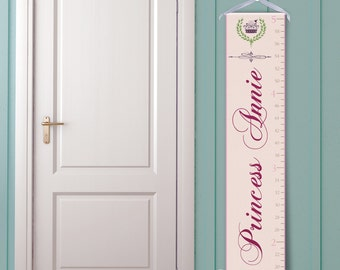 """Personalized Growth Chart """"Princess in Pink"""""""