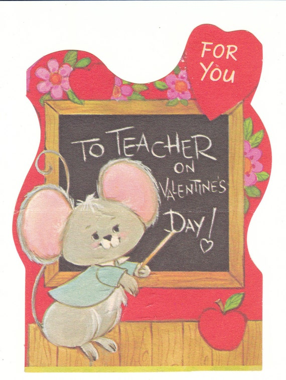 Valentines Day Vintage Teacher Cards – Valentines Cards for Teachers