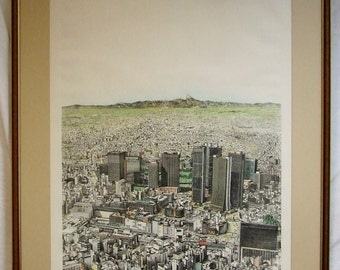 Tokyo Lee Lorenz signed Limited Edition Lithograph print framed listed New Yorker magazine Freight cost extra